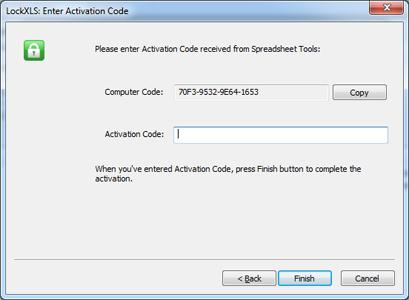 Lockxls activation code